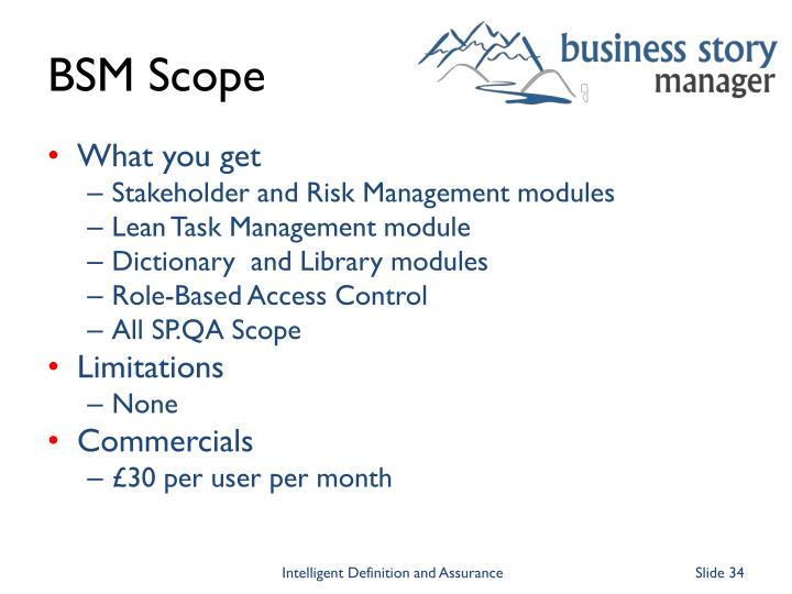 BSM Scope