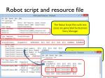 robot script and resource file