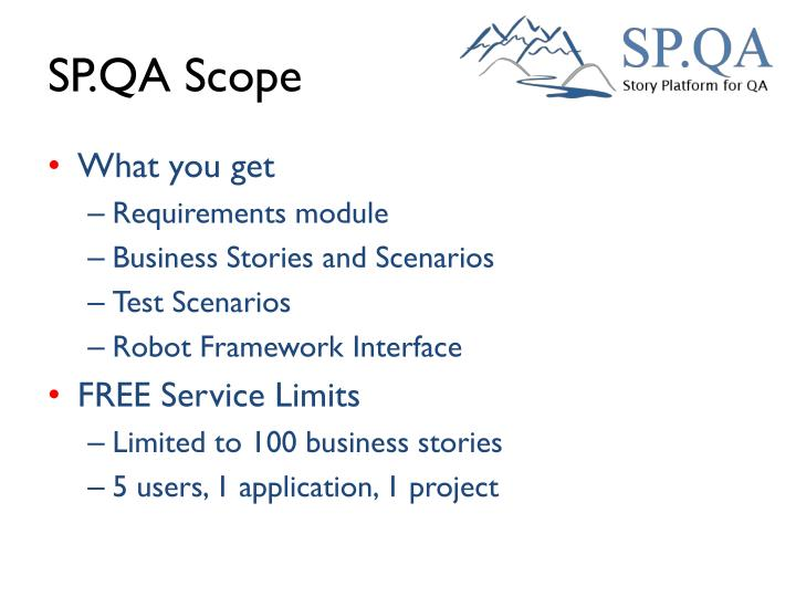 SP.QA Scope