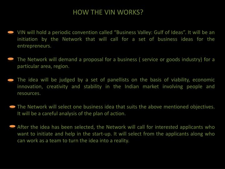 HOW THE VIN WORKS?