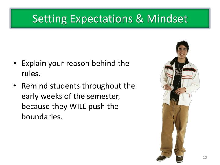 Setting Expectations & Mindset