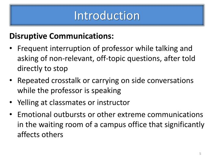 Disruptive Communications: