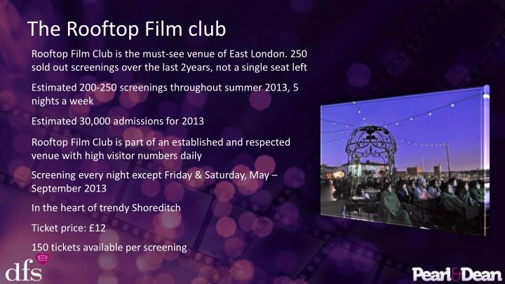 The Rooftop Film club