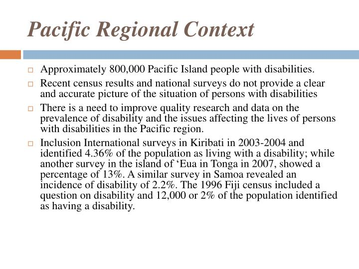 Pacific Regional Context