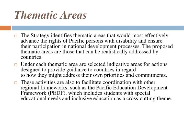 Thematic Areas