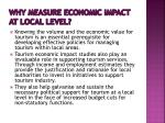 why measure economic impact at local level