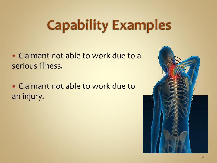 Capability Examples