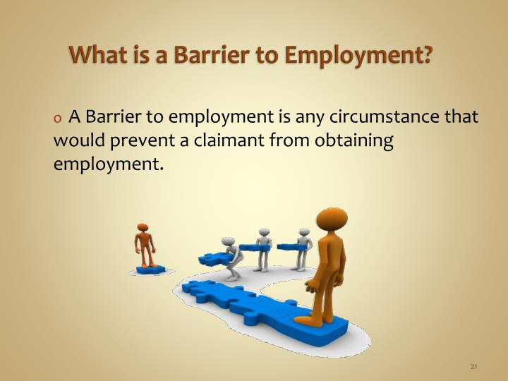 What is a Barrier to Employment?