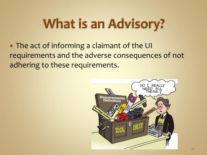 What is an Advisory?