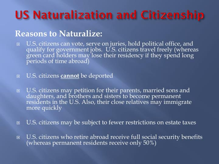 US Naturalization and