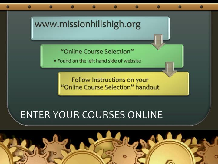 Enter your courses online