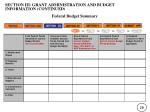 section iii grant administration and budget information continued