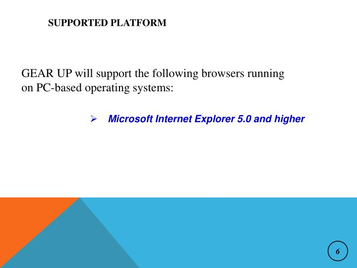 Supported Platform