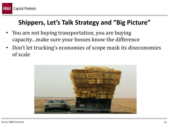 "Shippers, Let's Talk Strategy and ""Big Picture"""