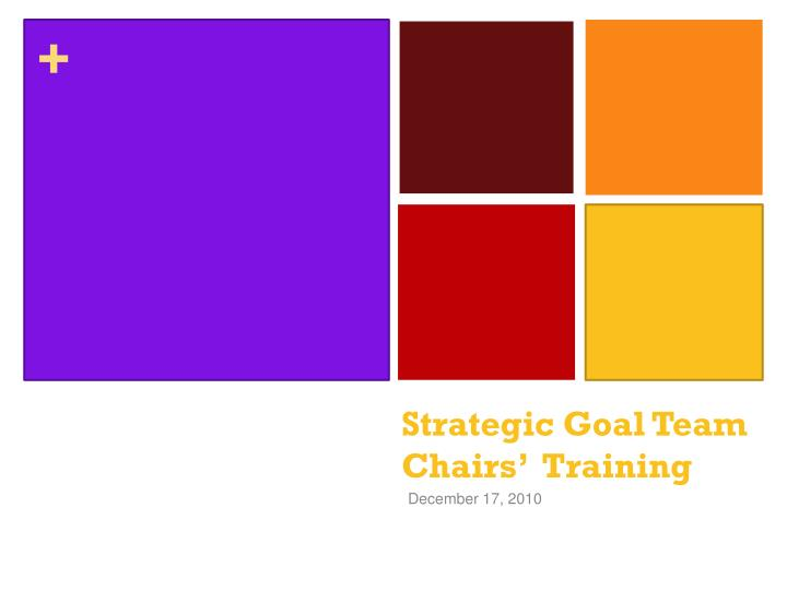 Strategic goal team chairs training