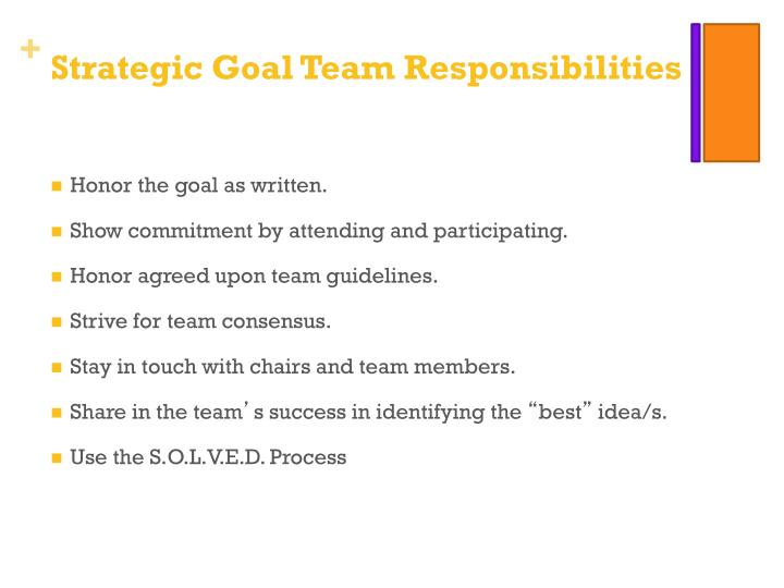 Strategic Goal Team