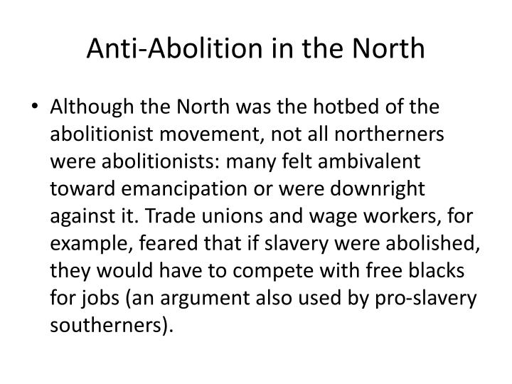 Anti-Abolition in the North