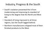 industry progress the south