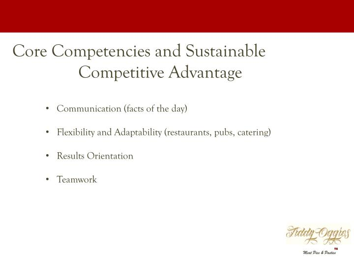 Core Competencies and Sustainable