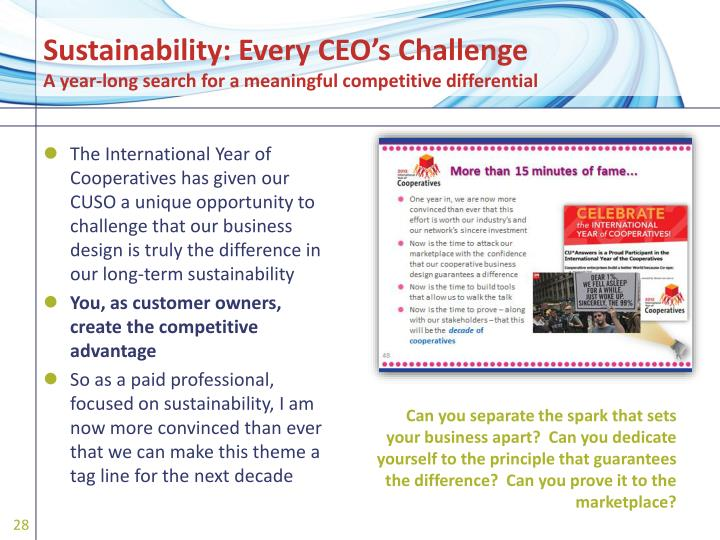 Sustainability: Every CEO's Challenge