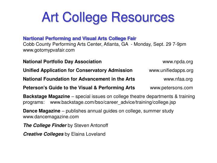 Art College Resources