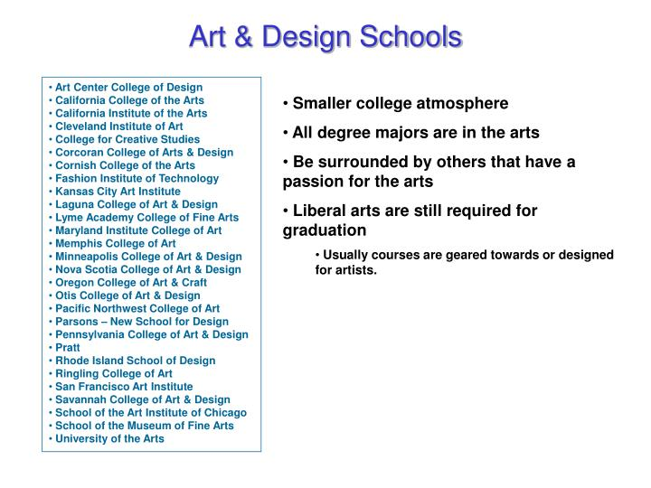 Art & Design Schools
