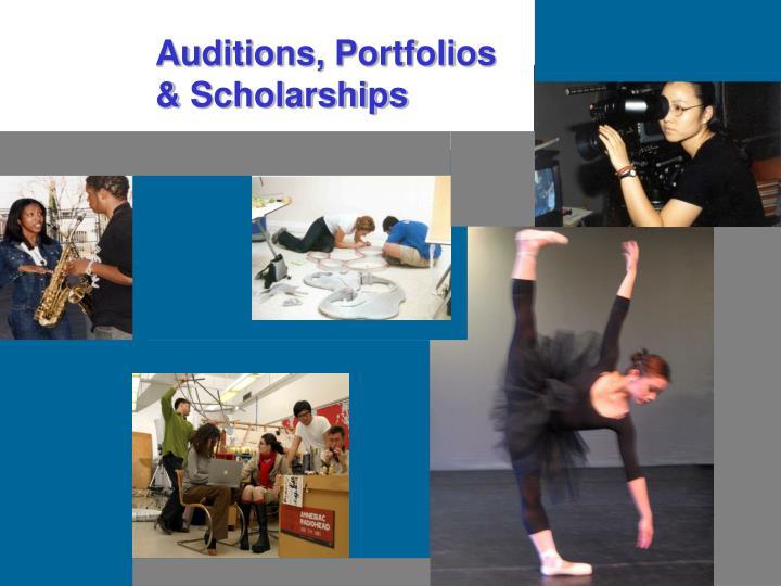 Auditions, Portfolios