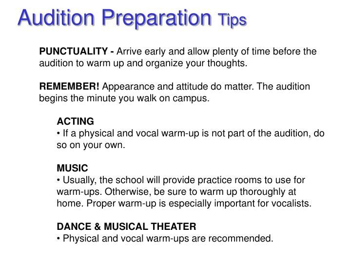Audition Preparation