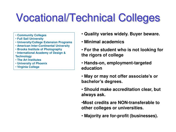 Vocational/Technical Colleges