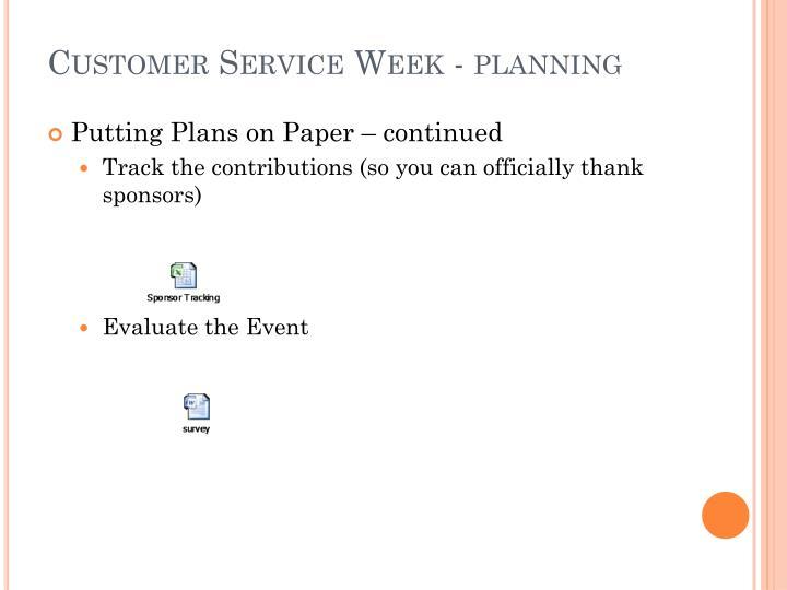Customer Service Week -