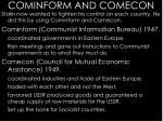 cominform and comecon