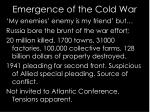 emergence of the cold war