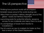the us perspective