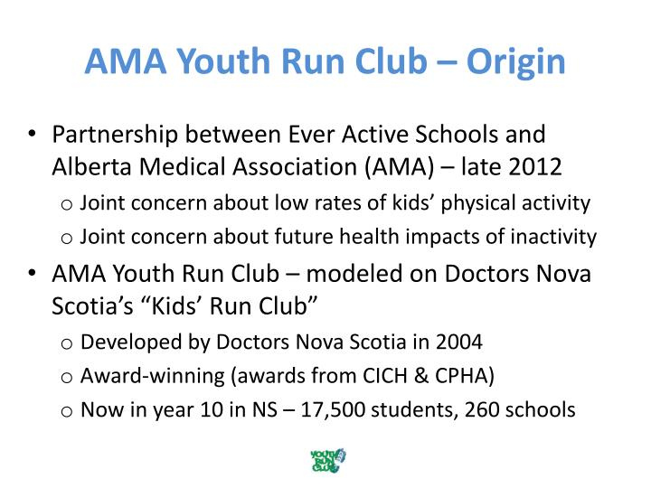 Ama youth run club origin