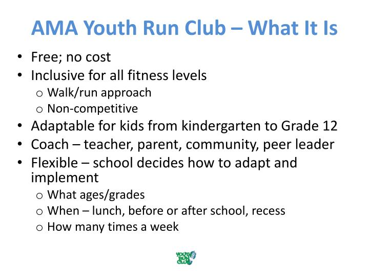 AMA Youth Run Club – What It Is