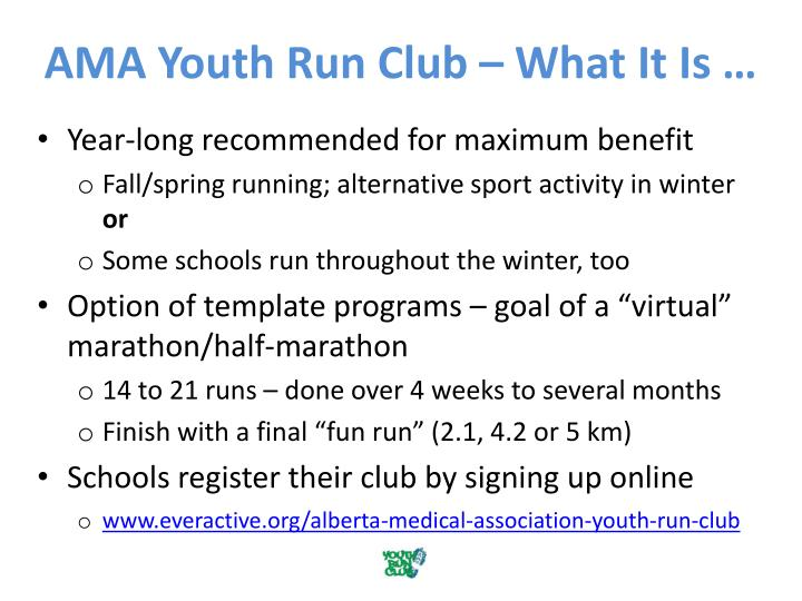 AMA Youth Run Club – What It Is …