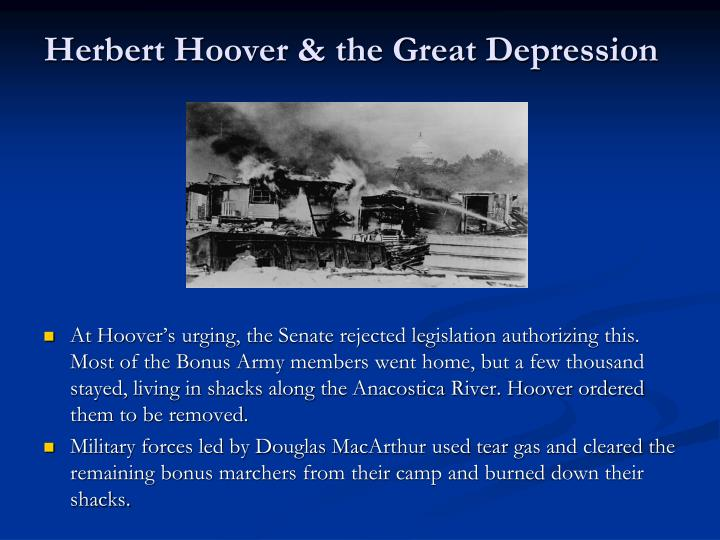 an overview and analysis of the presidency of herbert hoover Remarks on presenting the herbert schiff memorial trophy to statement about the resignation of george e akerson as secretary to the president herbert hoover.