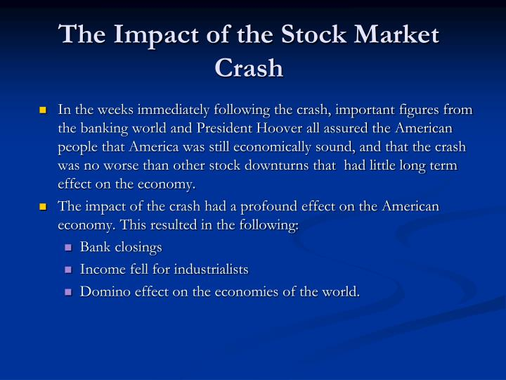 the impact of stock market on economic growth thesis A thesis submitted to  relation between financial development and economic growth  impact on stock market capitalization in resource-rich economies.