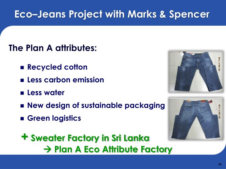 Eco–Jeans Project with Marks & Spencer