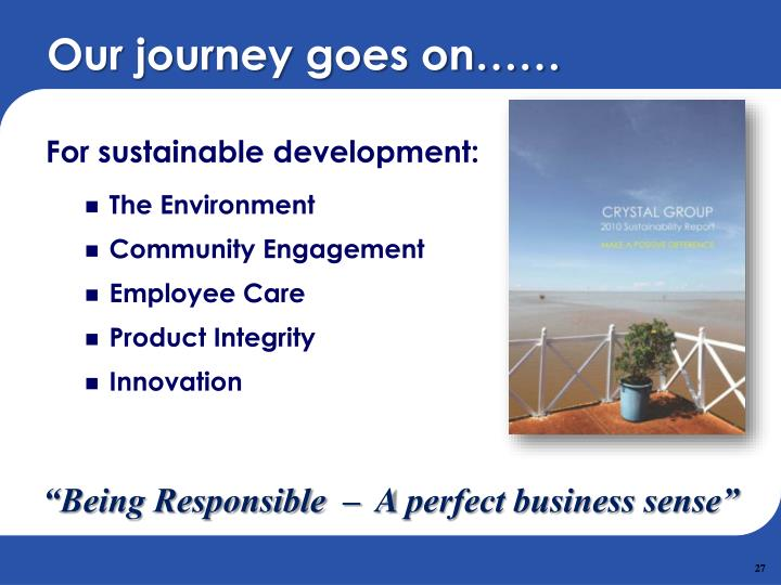 For sustainable development: