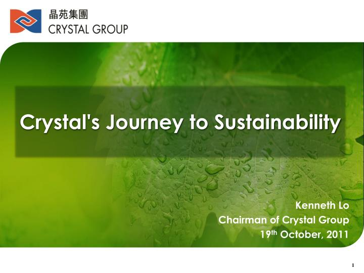 Crystal's Journey to Sustainability