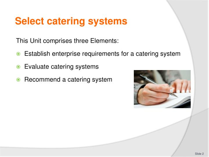 Select catering systems