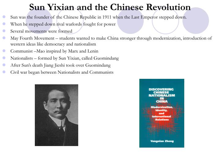Sun Yixian and the Chinese Revolution