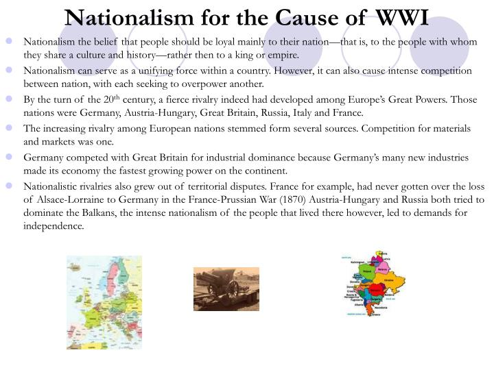 Nationalism for the Cause of WWI
