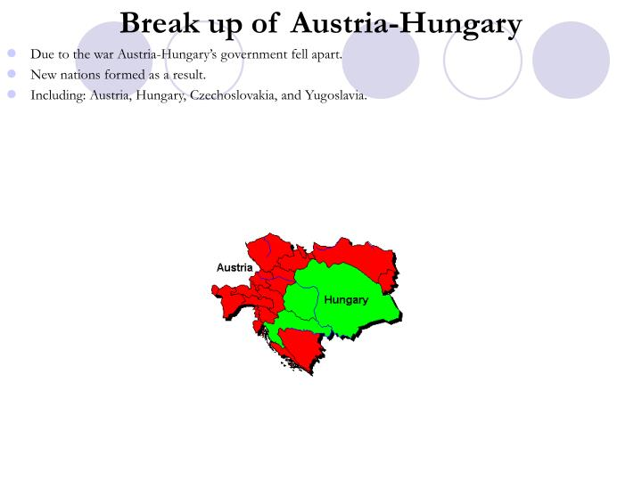Break up of Austria-Hungary