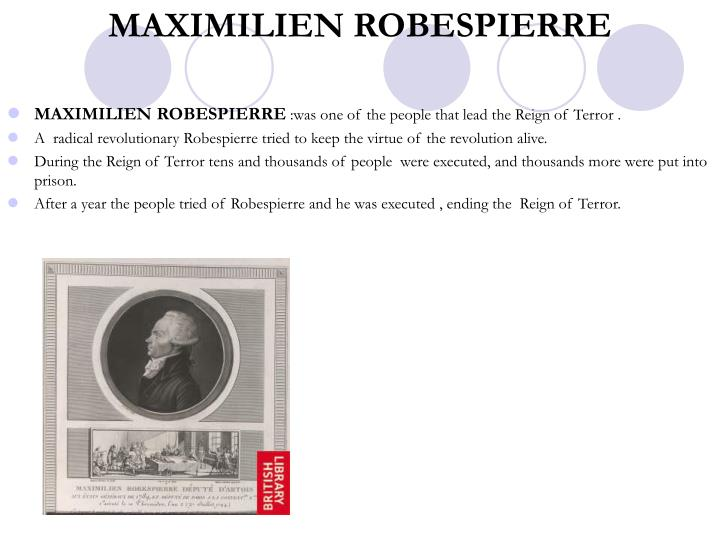 MAXIMILIEN ROBESPIERRE