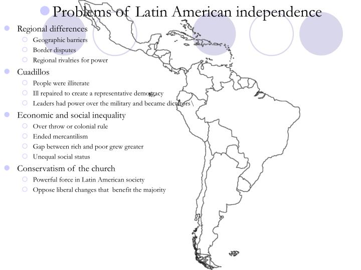 Problems of Latin American independence
