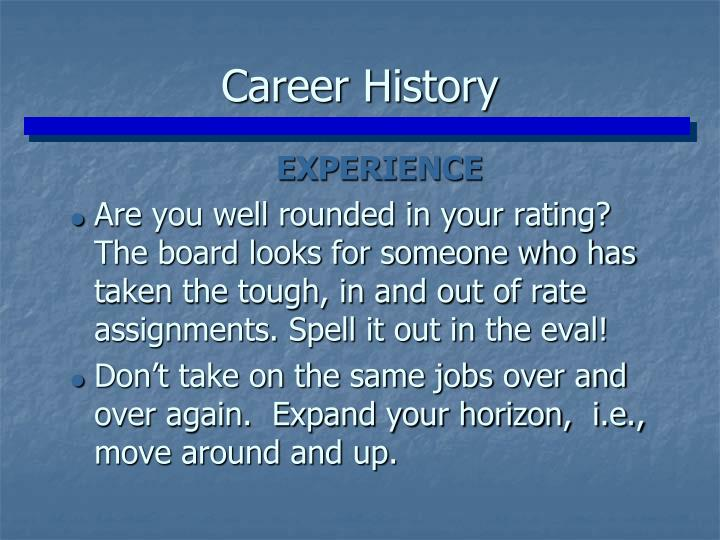Career History