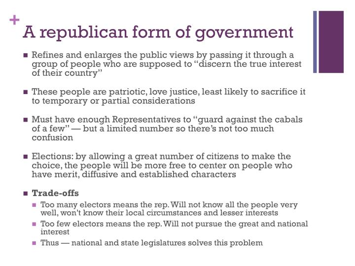 A republican form of government