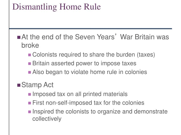 Dismantling Home Rule